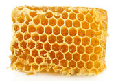 Sweet honeycomb isolated on white — Stock Photo