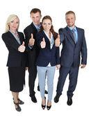 Grup üzerinde beyaz izole iş adamları — Stok fotoğraf