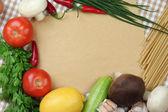 烹饪的概念。超市买东西的空食谱关门 — 图库照片