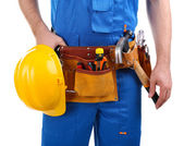 Builder isolated on white — Stockfoto