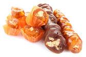 Tasty oriental sweets (churchkhela), isolated on white — Stock Photo
