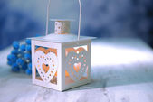 Christmas lantern on light background — Стоковое фото