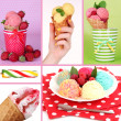 Collage of yummy ice-cream — Stok Fotoğraf #35798557
