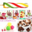 Collage of yummy ice-cream — Stok Fotoğraf #35798575