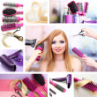 Hairdressing collage — Stock Photo #35798587