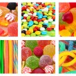 Collage of different colorful candies and sweets — Stock Photo #35798757