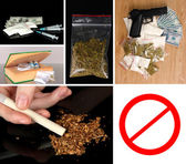 Drug trafficking concept — Stock Photo