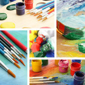 Color Paint Collage — Stock Photo