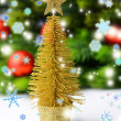 Decorative Christmas tree, fir tree branch, isolated on white — Stock Photo #35826441
