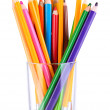 Colorful pencils in glass — Stock Photo #35826787