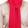 Woman wearing scarf close up — Stock Photo