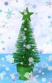 Decorative Christmas tree isolated on white — Stock Photo