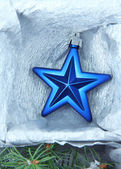 Beautiful packaged Christmas star, close up — Stock Photo
