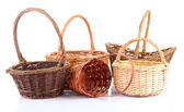 Empty wicker baskets — Stock Photo