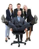 白で隔離されるビジネス人々 のグループ — Stockfoto