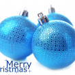 Christmas balls, isolated on white — Stock Photo #35946371