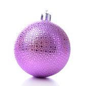Christmas ball, isolated on white — Stock Photo