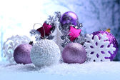 Christmas decorations on light background — Стоковое фото