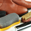 Stock Photo: Shoe Polishing close up