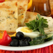 Traditional Turkish breakfast close up — Stock Photo #35995835