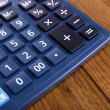 Digital calculator on table close-up — Stock Photo