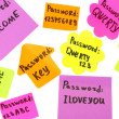 Password's reminders isolated on white — Stock Photo