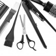 Professional hairdresser tools, isolated on white — Stock Photo #35998619