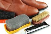 Shoe Polishing close up — Stock Photo