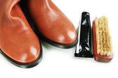 Shoe Polishing close up — Stockfoto