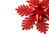 Beautiful Christmas decorations isolated on white — Stock Photo