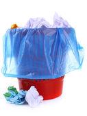 Garbage bin, isolated on white — Stock Photo