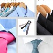 Collage of male shirts and ties — Stock Photo #36116009
