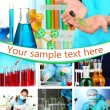 Collage of scientists and laboratory experiments — Stock Photo #36116051