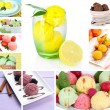 Collage of yummy ice-cream — Stok Fotoğraf #36116569