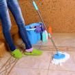 House cleaning with mop — Stock Photo #36123617