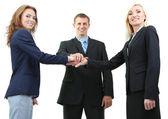 Grupa ludzi biznesu na białym tle — Zdjęcie stockowe