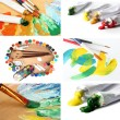 Color Paint Collage — Stock Photo #36224473