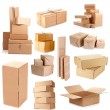 Stock Photo: Cardboard boxes isolated on white