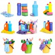Cleaning items isolated on white — Stock Photo
