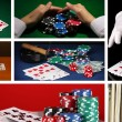 Casino collage — Stock Photo