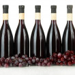 Stock Photo: Wine bottles isolated on white