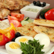 Traditional Turkish breakfast close up — Stock Photo #36234999