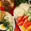 Traditional Turkish breakfast close up — Stock Photo #36235249