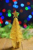 Decorative Christmas tree isolated on white — Stock Photo