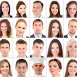 Collage of many different human faces — Stock Photo #36264749