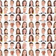 Collage of many different human faces — Stock Photo