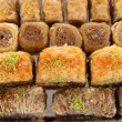 Sweet baklava on tray close-up — Stock Photo #36385117