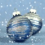 Christmas balls on blue background — Stock Photo #36426881