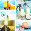 Stock Photo: Summer vacation collage