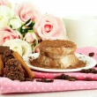 Yummy chocolate cake close-up — Stok Fotoğraf #36485889